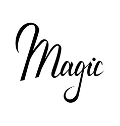 magic lettering text vector image