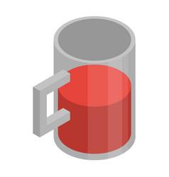 mug of wine icon isometric style vector image