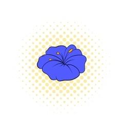 Petunia flower icon comics style vector