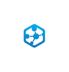 Polygon connect technology logo vector