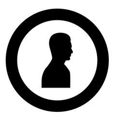 profile side view portrait black icon in circle vector image