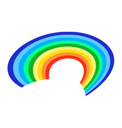 Rainbow icon on a white background flat vector