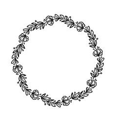 round calligraphic wedding frame wreath vector image