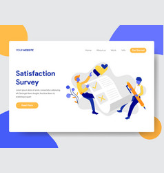 Satisfaction survey concept vector