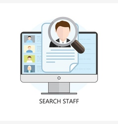 Search Staff Icon Computer vector image