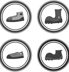 Set of boots vector