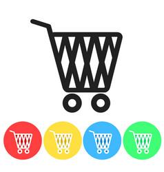set of online shopping icon button design vector image