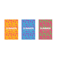 set templates cover for summer travel vector image