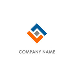 shape square colored logo vector image