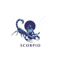 Sign zodiac scorpio vector