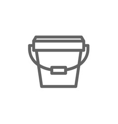 Simple bucket icon symbol and sign vector