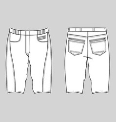 Skinny shorts vector