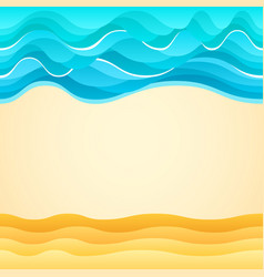 Summer beach sand sea waves holiday tourism vector