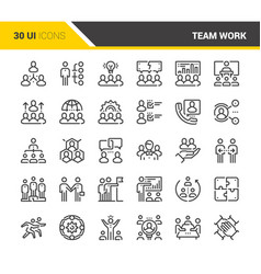 Team work icons vector