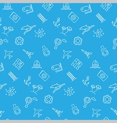 Travel seamless pattern background vector image