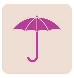 umbrella sketch icon vector image
