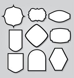 Vintage shield armor frame icon logo mascot set 5 vector