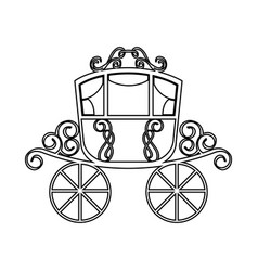 wedding carriage isolated icon vector image
