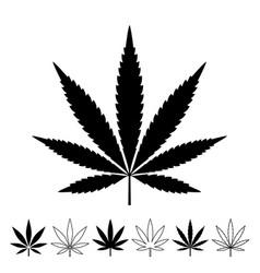weed marijuana cannabis leaf icon logo vector image
