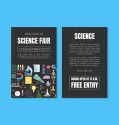 Welcome to science fair invitation card template vector