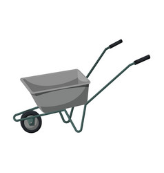Wheelbarrow iconcartoon icon vector