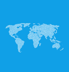 white global world map like infographic element vector image