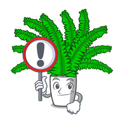 with sign fern frond frame decoration on cartoon vector image