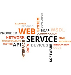 word cloud web service vector image