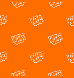 Wtf comic book bubble text pattern seamless vector