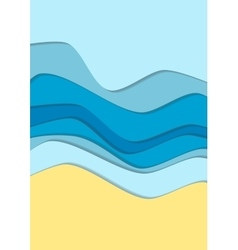 Yellow and blue curve wave line background vector