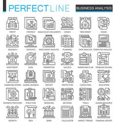 business analytics outline mini concept symbols vector image