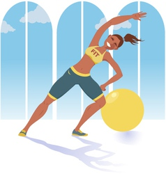 Fitness instructor vector image vector image