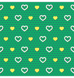 Polka Dots Hearts Pattern vector image