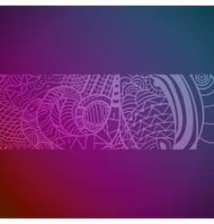 Abstract hand drawn Pattern with Snakes vector image