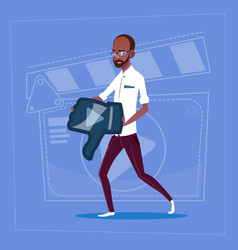 african american man hold thumb down modern video vector image