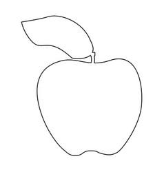 apple the black color icon vector image vector image