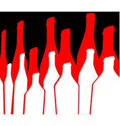 Bottles of alcohol vector