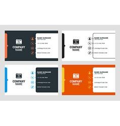 Buisness card template set vector