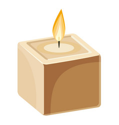 cube-shape candle icon cartoon style vector image vector image