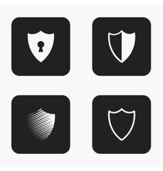 modern shield icons set vector image