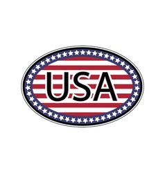 Oval sticker USA vector image vector image