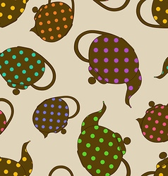 Seamless pattern of teapots vector image vector image