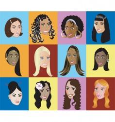 women faces vector image vector image