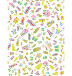 seamless background of doodle gift box vector image vector image