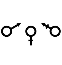 sign symbol of gender equality male female and vector image vector image