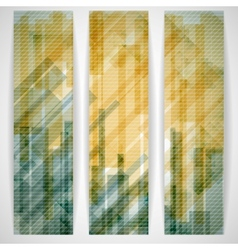 Abstract Yellow Rectangle Shapes Banner vector image vector image