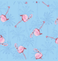 beautiful seamless tropical pattern background vector image vector image