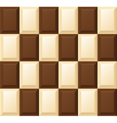 black and white chocolate bar vector image vector image