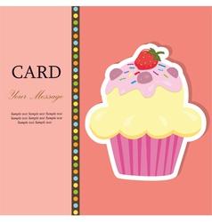 cupcakecard vector image