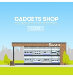Facade gadgets shop in the urban space the sale vector image vector image